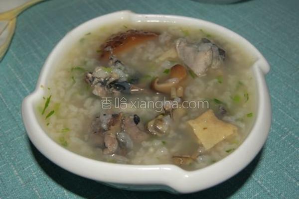 乌骨鸡香菇粥的做法