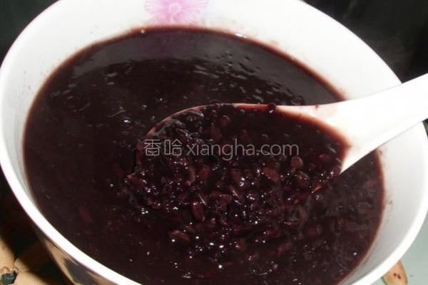 黑米黄米粥的做法