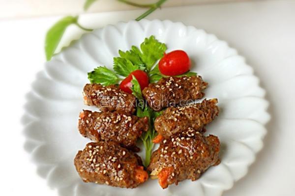 沙茶牛肉卷的做法