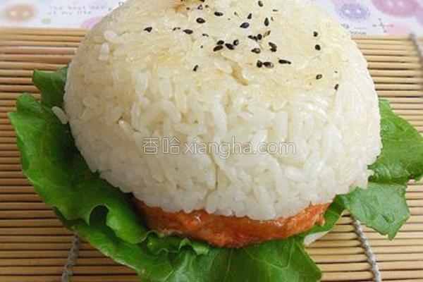 烤肉米饭汉堡