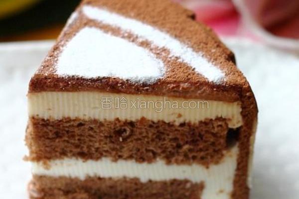 心形可可慕斯蛋糕的做法