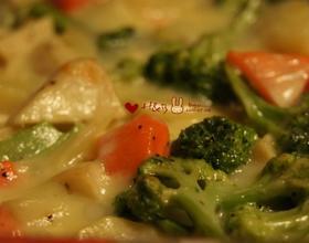 奶酪焗蔬菜