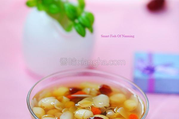 莲子百合蜜豆糖水的做法