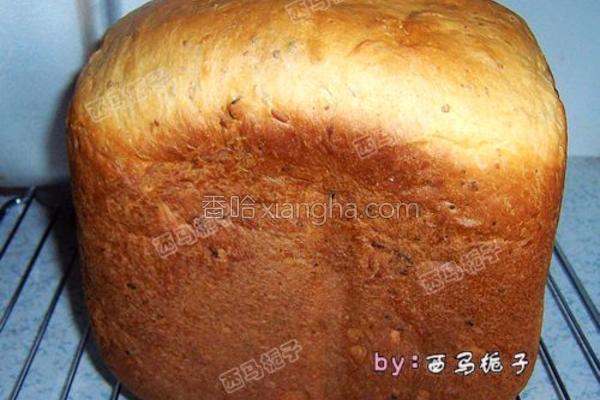 蜜豆大面包的做法