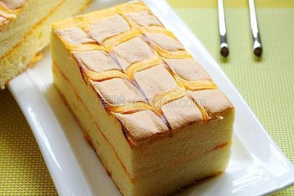 千叶纹夹心蛋糕的做法