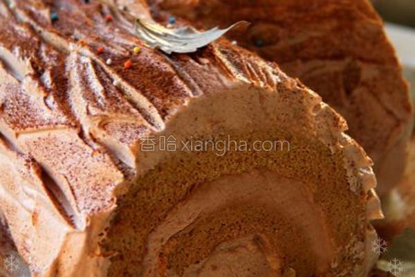 树桩蛋糕的做法