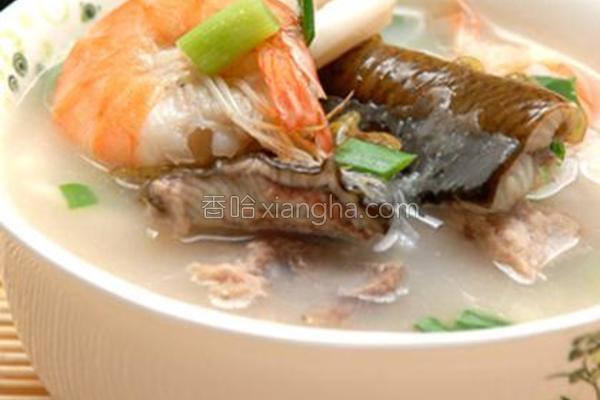 鳝鱼海鲜粥的做法