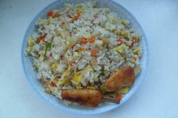 炒寿司米饭的做法