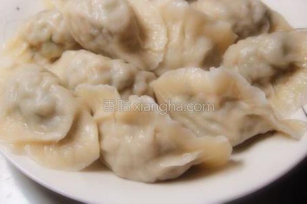 猪肉面条菜水饺
