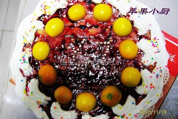 蓝莓鲜奶蛋糕的做法