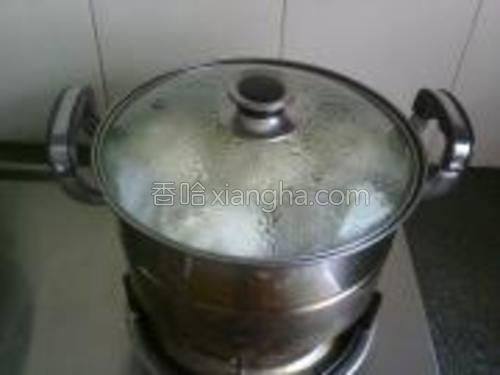 冷水上锅蒸,从冷水到开再到熟,我蒸了17分钟。