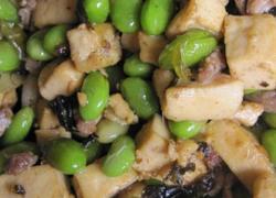 榄菜毛豆炒豆干