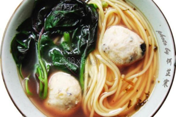 肉丸里脊汤苋菜面的_菜谱_香哈网做法葱烧木耳图片