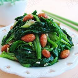 凉拌花生米菠菜的做法[图]