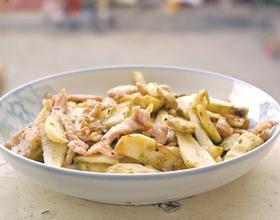 青椒慈菇炒肉片