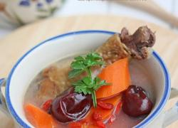 腊鸡腿胡萝卜红枣枸杞汤