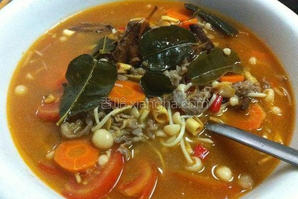 泰式冬菜谱金针菇做法汤的肥牛_阴功_香哈网生吃三文鱼要谨慎图片
