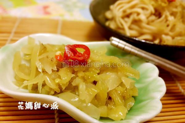 蒜味酸菜的做法