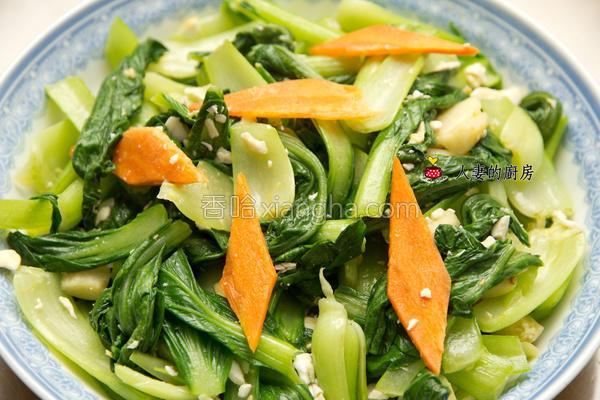 青江菜炒咸蛋的做法