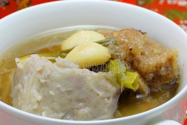 芋头排骨汤的做法