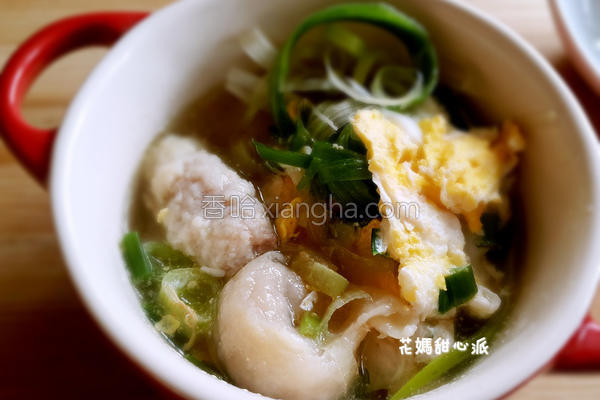 葱香鱼饺汤的做法