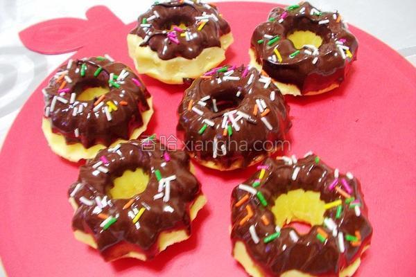 酸奶巧克力甜甜圈的做法