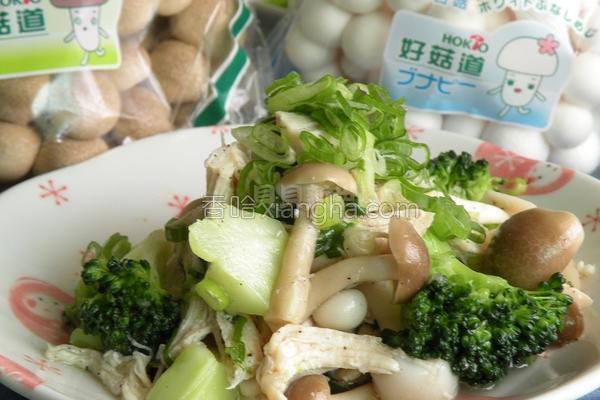 盐水菇菇鸡丝的做法
