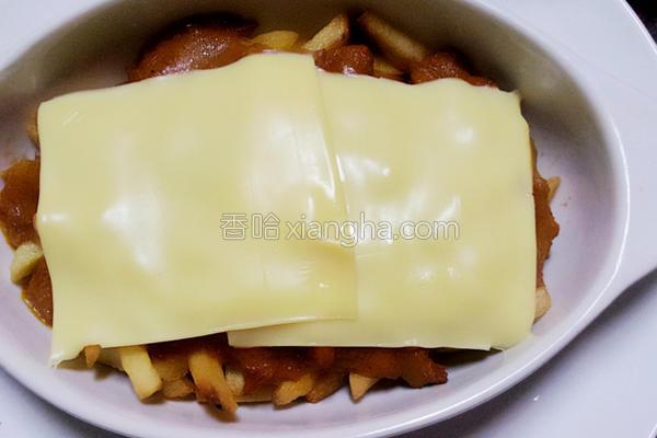 快速起司肉酱薯条的做法