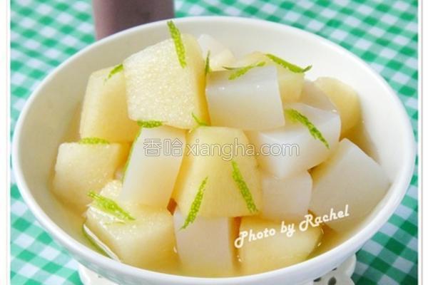 柠檬蜂蜜魔芋苹果的做法