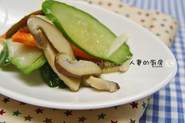 食蔬炒鲜菇的做法