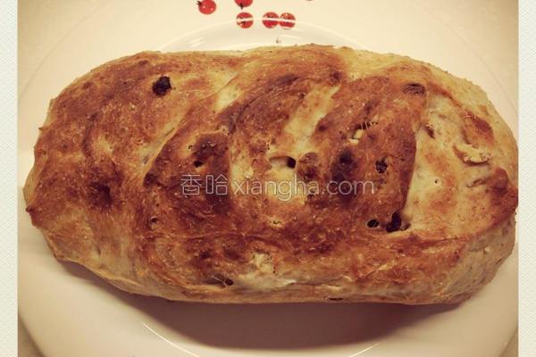 提子合桃免搓麦包的做法
