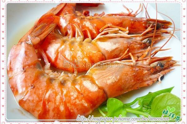 清蒸大草虾的做法