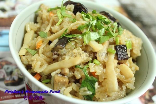 竹笋炊饭的做法
