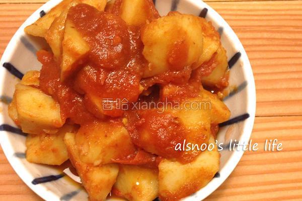 番茄烧马铃薯的做法