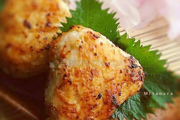 仙台味噌烤饭团的做法