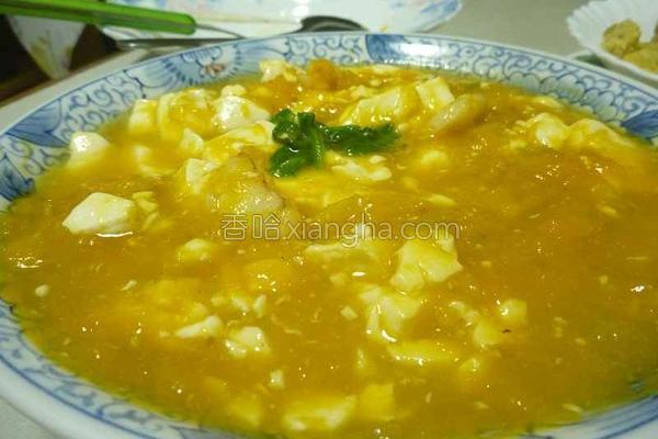南瓜烩豆腐的做法