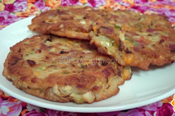 韩风鲜蔬培根煎饼的做法