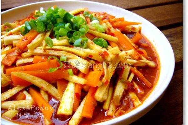 辣豆瓣茭白笋的做法