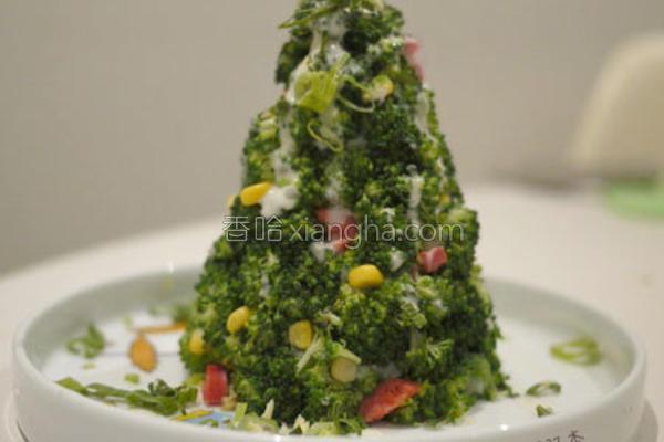 花椰菜圣诞树的做法
