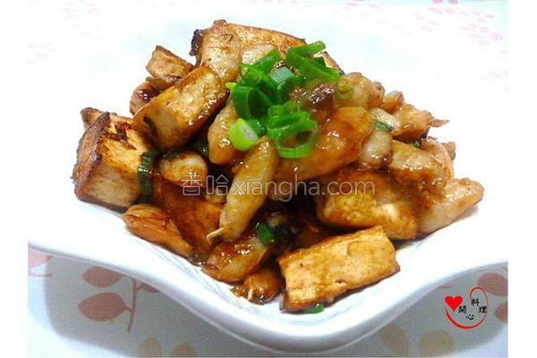 蟹烧蚝豆腐的做法