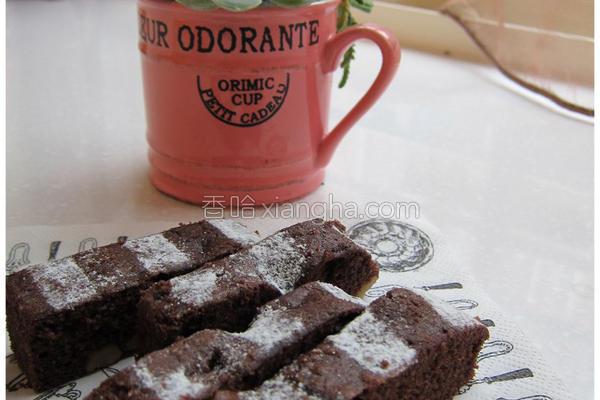 巧克力蛋糕条的做法
