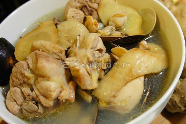 蛤蜊鸡汤的做法