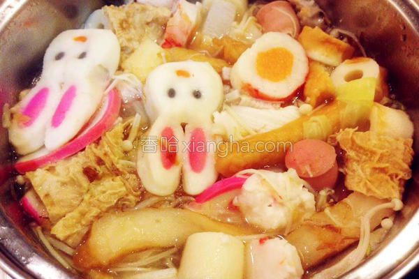 青菜关东煮的做法
