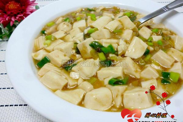 葱香豆腐的做法