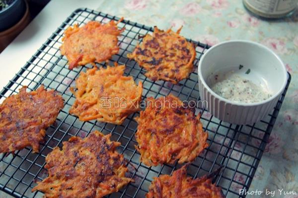 南瓜番薯脆煎饼的做法