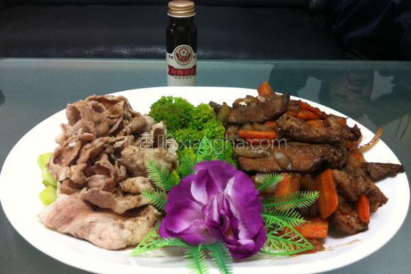 梅香猪肉双色拼盘的做法