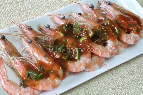 柠檬酸辣鲜虾的做法