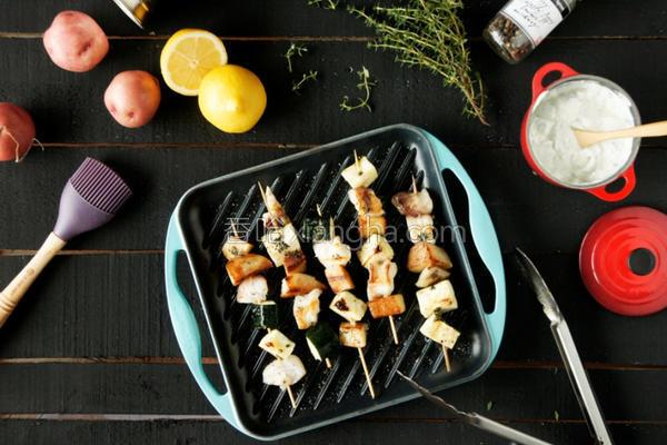 烧烤白肉鱼的做法