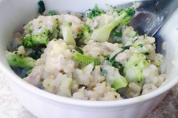 蔬菜糙米豆浆炖饭的做法
