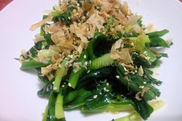 柴鱼片拌韭菜的做法